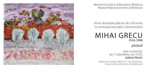 [arta.md] expoziţie comemorativă: Mihai GRECU: Pictură